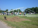 Gründungsjubiläum 2011 - Aufbau des Festes